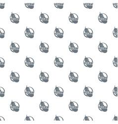 vegan pattern seamless vector image