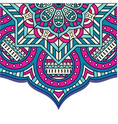 Vintage mandala pink blue background image vector