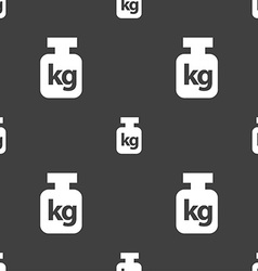 Weight sign Seamless pattern on a gray background vector image