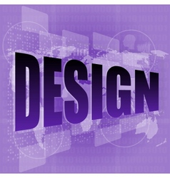 words design on digital screen information vector image