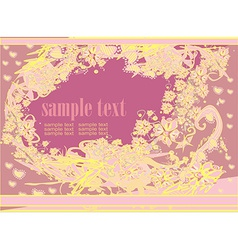 abstract floral frame invitation card vector image