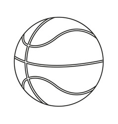 basketball ball play thin line vector image