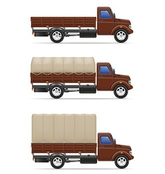 cargo truck 04 vector image vector image