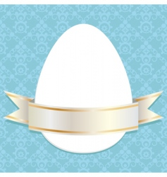 Easter ribbon vector image vector image