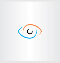 eye logo sign symbol vector image