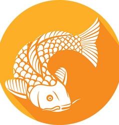 Koi Fish Icon vector image vector image