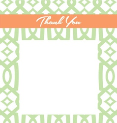 Mint and Peach Thank You card vector image
