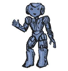 robotic vector image vector image