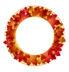 Autumn banner with leaves vector image vector image