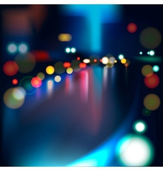 Blurred Defocused Lights of Heavy Traffic on a Wet vector image vector image