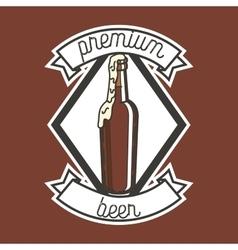 Color vintage beer brewery emblem vector image