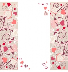 frame with stylized hearts vector image vector image