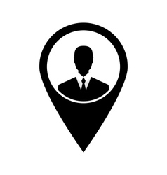 Icon tag avatar businessman suit head sign black - vector image vector image