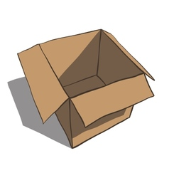 Open box isolated on white background Cartoon vector image