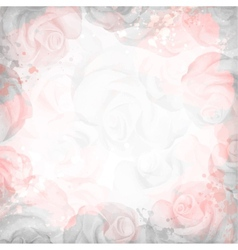 Abstract romantic rose background in pink and gray vector image