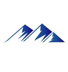 Blue mountains logo vector image