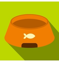 Bowl for animal icon flat style vector