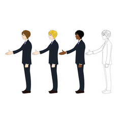 business man hand shake vector image