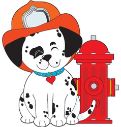 dalmation fire dog vector image vector image