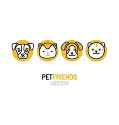 logo design template for pet shops vector image vector image