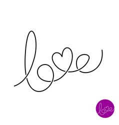 love letters text logo vector image