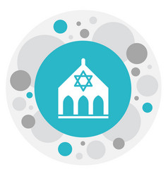 of faith symbol on synagogue vector image vector image