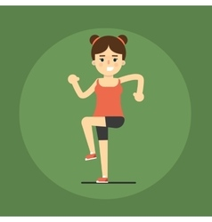 Smiling fitness girl doing exercise vector image vector image