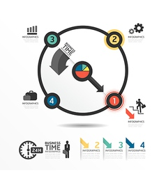 Abstract circle infographic Design Minimal style vector image vector image