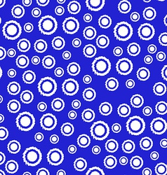 Abstract Seamless Pattern in Blue and White Colors vector image
