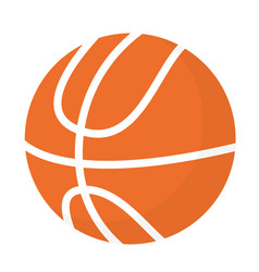 basketball ball cartoon vector image