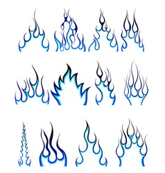 fire pattern set vector image vector image