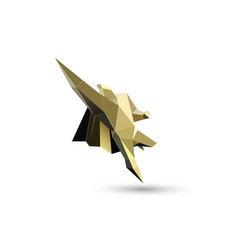 gold flying superhero character business power vector image