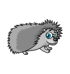 Gray smiling hedgehog character vector image vector image