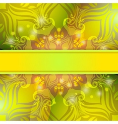 Green vintage abstract background vector image vector image