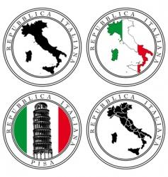 italian stamp vector image vector image