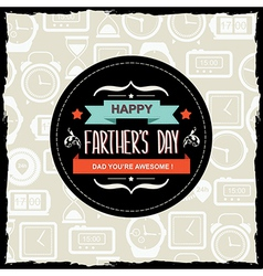 Poster Happy farthers dayTypography vector image