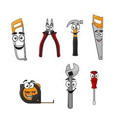 Set of cartoon DIY hand tools vector image