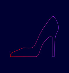 woman shoe sign line icon with gradient vector image