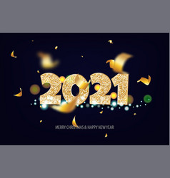 2021 happy new year tradicional lettering text vector image