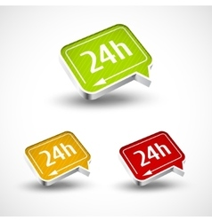 24h icon for your buseness and designs vector image