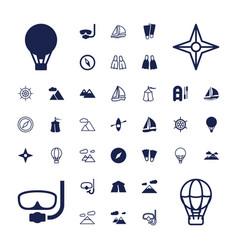 37 adventure icons vector