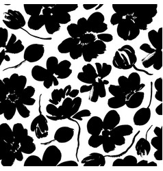 abstract blooming ink seamless pattern vector image