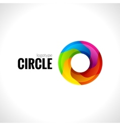 Abstract circle round logo for business vector