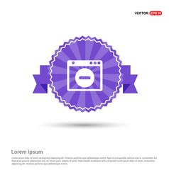 Application window interface icon - purple ribbon vector