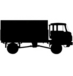 army truck silhouette vector image