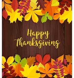 Autumn background Traditional Thanksgiving day vector image