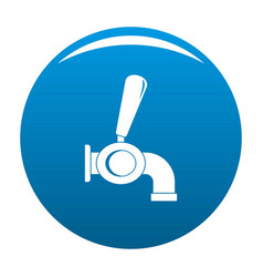 beer tap icon blue vector image