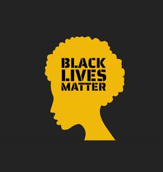 black lives matter concept template vector image