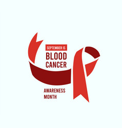 blood cancer awareness month vector image