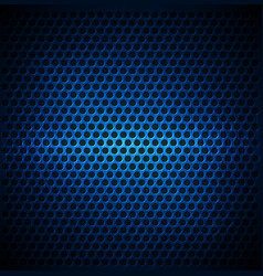 blue dotted metal background design vector image